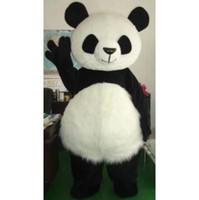 panda fantasia venda por atacado-Novo casamento Panda Urso Monstro Mascot Costume Fancy Dress Adult Size