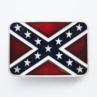 Wholesale novelty rebel flags - New Vintage Men Belt Buckle Confederate Rebel Enamel Rectangle Belt Buckle Gurtelschnalle Boucle de ceinture