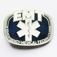 Wholesale pewter belt - New Classic EMT Emergency Medical Vintage Pewter Belt Buckle Gurtelschnalle Boucle de ceinture BUCKLE-OC008 Free Shipping