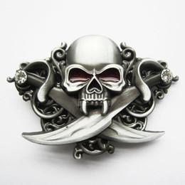 Wholesale Emo Belts - Jean's Friend New Classic Skull Emo Rhinestones Bling Belt Buckle Gurtelschnalle Boucle de ceinture BUCKLE-SK015 Brand New Free Shipping