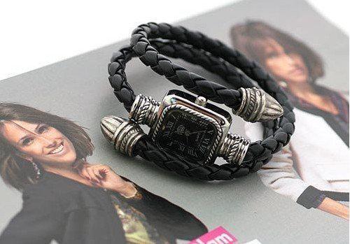 Hot Snake Roman En Cuir Tressé Bracelet Montres Mode Femmes 's Montres Xmas Cadeau Nouvel Arrivée