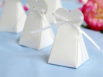 Bride dress favor boxes, wedding favors, favour boxes, candy boxes