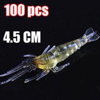 Wholesale Shrimp Shape - 100PCS LOT New Shrimp Shape ,Fishing Baits,Fishing Lure, Fishing Tackle, Soft Lure 4.5CM 1.2g Free