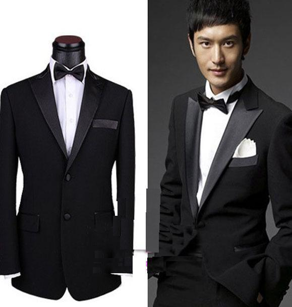 New Mens Black Complete Designer Suit/Bridegroom Suit Clothes  ...