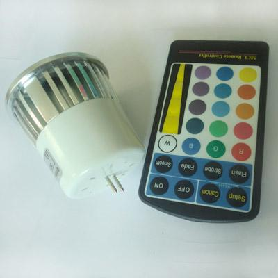 x 색상 변경 MR16 E27 GU10 5W 홈 파티 조명에 대 한 원격 제어와 RGB RGB 스포트 라이트 85-265V 12V