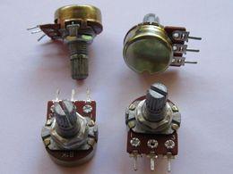 original-leistungsrelais Rabatt B1K Potentiometer Potentiometer Tone Control 15mm Welle S 10 Stück pro Los Hohe Qualität