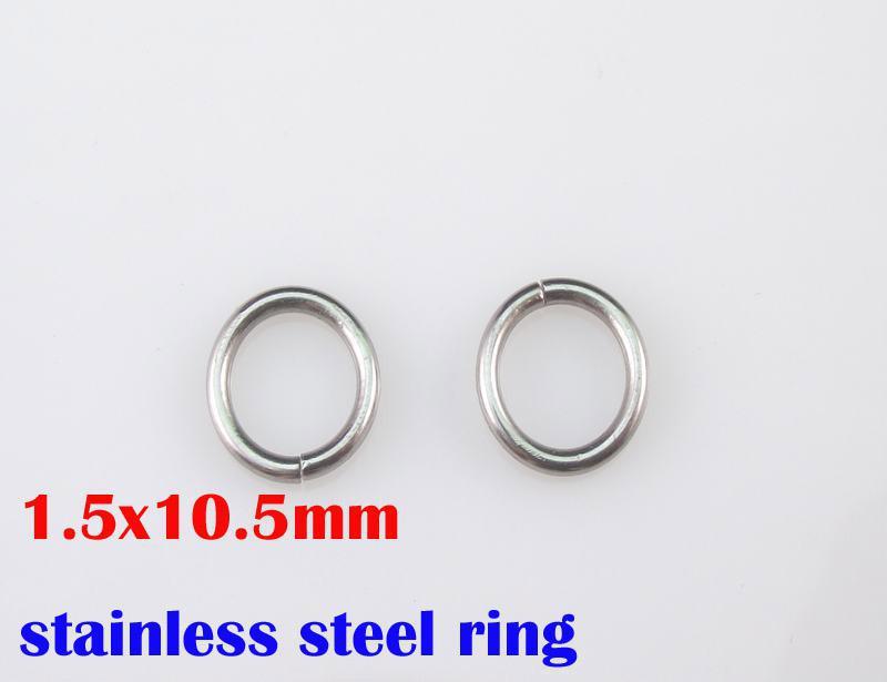 1.5x10.5mm 100% en acier inoxydable 316L anneaux 1000pcs / lot collier bricolage accessoires chaînes pièces SP016