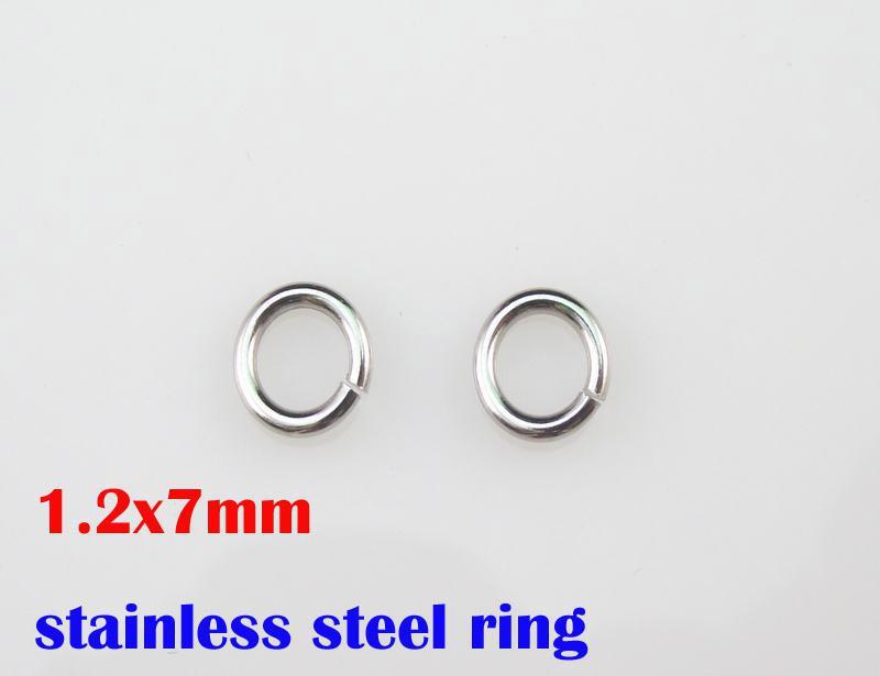 L'acciaio inossidabile di 1.2x7mm 100% 316L suona 1000pcs / lot accessori di catene della collana di DIY parti SP017