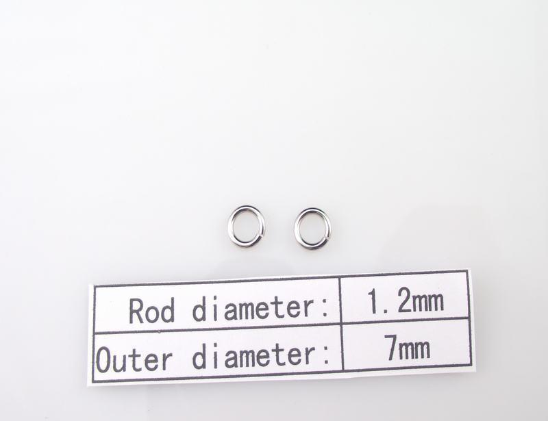 1.2x7mm 100 % 316L 스테인레스 스틸 반지 1000pcs / lot DIY 목걸이 액세서리 체인 부품 SP017
