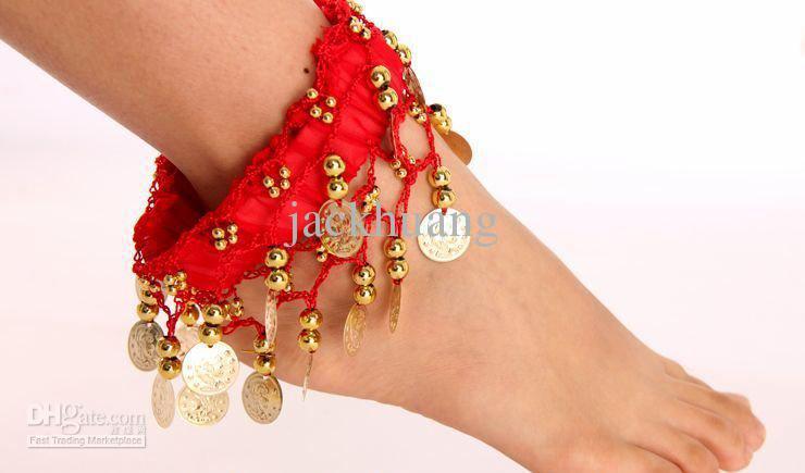 танец живота аксессуары, танец живота ювелирные изделия, супер дешевые, шифон ножной браслет P02, бесплатная доставка