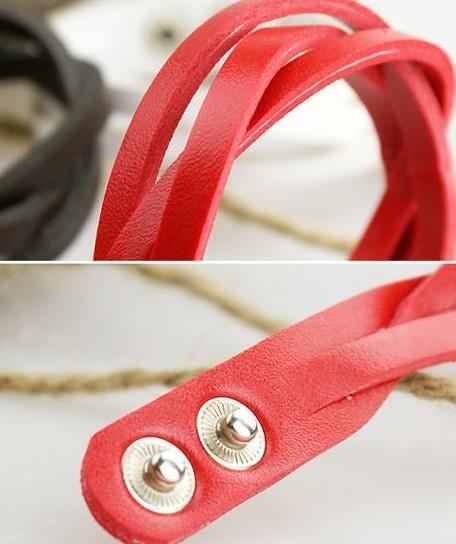 Vriendschap Armband 30 stks / partij Lederen String Armband Charm Armband Sieraden Armband Wrap Armband Armband