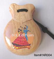 ingrosso passeggino per bambini giocattolo-Nacchere di legno massello di danza del fenicottero spagnolo