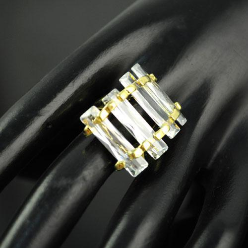 Moda Kostium Kryształowy Pierścień Dla Kobiet Biżuteria Flash Trend Cyrkon Obrączka Ślubna Anityczne Złote Pierścienie | Rn-580a.