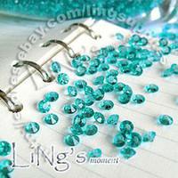 Wholesale Table Scatter Aqua Blue - Free Shipping 1000 1 3ct 4.5mm Aqua Blue diamond confetti wedding favor table scatter Decoration
