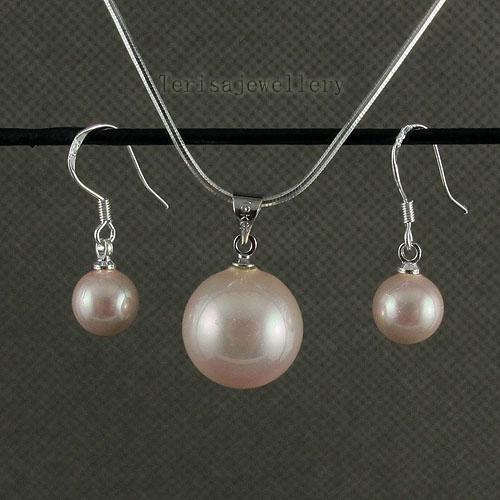 Mooie roze moeder-van-parel oorbel hanger groothandel vrouw mode-sieraden gratis verzending A1471