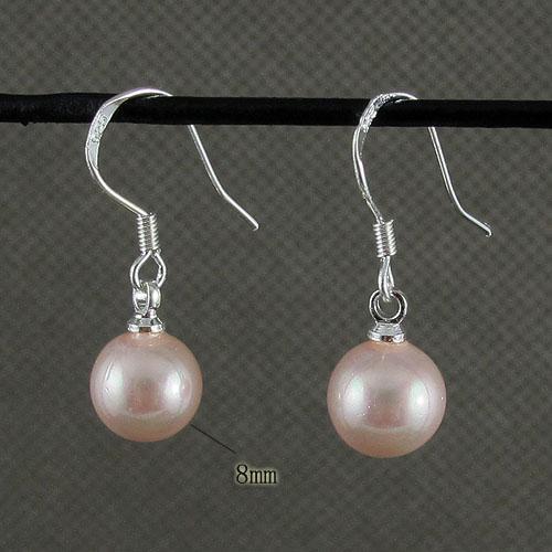 Belle rose nacre boucle d'oreille pendentif en gros femme de mode bijoux livraison gratuite A1471