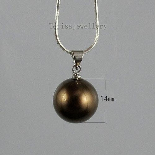 아름 다운 갈색 색상 mother-of-pearl 귀걸이 펜 던 트 도매 여자 보석 A1473