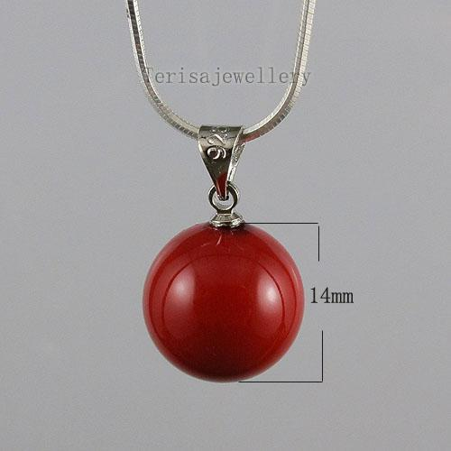 beautiful red color mother-of-pearl earring pendant wholesale woman's jewelry A1475