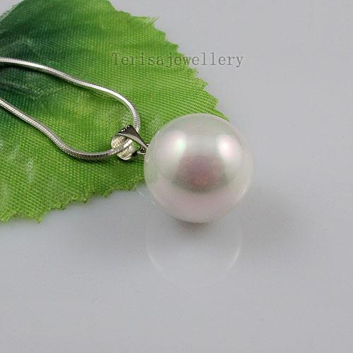Mooie witte kleur Moeder-van-parel oorbel hanger groothandel vrouw sieraden gratis verzending A1474