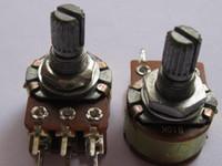 15mm welle großhandel-B10K Doppelpotentiometer Töpfe 15mm Split Shaft 6pin 20 Stück pro Los Hohe Qulity