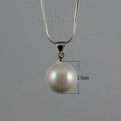 아름다운 흰 색 어머니 - 오브 - 진주 귀걸이 펜던트 도매 여성 보석 A1474