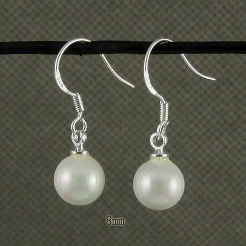 color blanco hermoso pendiente de madre perla colgante al por mayor joyería de la mujer envío gratis A1474