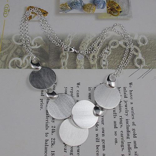 красивые серебряные ювелирные изделия комплект ожерелье браслет серьги Оптовая женская ювелирные изделия бесплатная доставка A1476