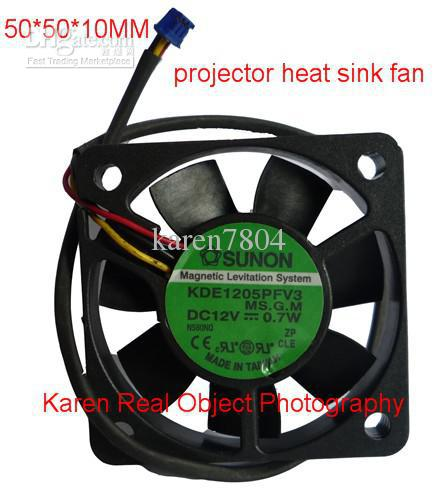 Originale SUNON 5010 12V 0.7W KDE1205PFV3 50 * 10mm Proiettore Ventola di raffreddamento GM1205PFV2-A