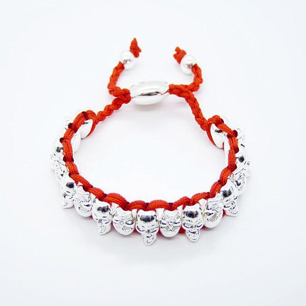 Moda Niebieski Szkielet Ludzki Handmade Friendship Links Bransoletka 925 Srebrny Boże Narodzenie Prezent 20 sztuk