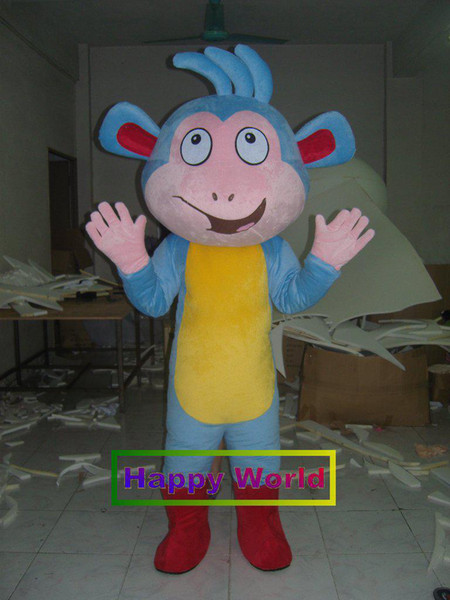 Adult DORA Boots Mascot Costume Halloween Cosplay Mascot Character Costumes  Full Mascot Costumes From Happy World, $218.54