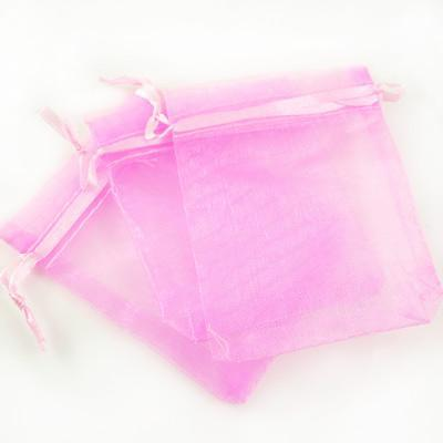 Commercio all'ingrosso 1000 pz / lotto Organza Jewelry Wedding Party Gift Favor Borse Titolari 7 * 9cm Shower Pouch Wedding Supplies tinta unita