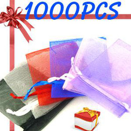 $enCountryForm.capitalKeyWord Canada - Wholesale 1000pcs   lot Organza Jewelry Wedding Party Gift Favor Bags Holders 7*9cm Shower Pouch Wedding Supplies Solid color