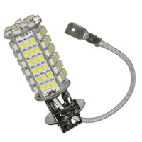 Wholesale H3 Smd - H3 102 SMD 3528 LED Car Auto White Light Bulb for sample 2pcs lot for free shipping