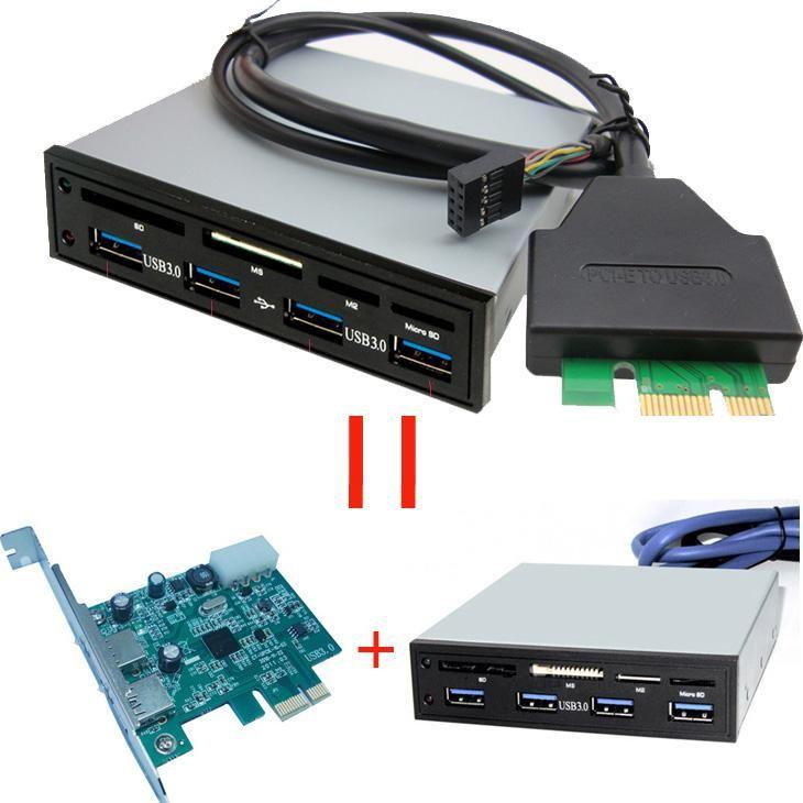 2019 PCI E PCI Express To USB 3.0 HUB With 3.5 Internal Card ReaderSix Slot From Szulanson, $28 ...