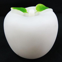 Wholesale Apple Shape Lamp - Christmas Lamps 7 Colours Changing Colourful LED Night Light Apple with Greenery Shape 100pcs lot
