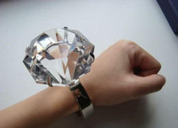 Wholesale Diamond Rings Decorations - free shipping,60MM Super large crystal ring!Big Diamond ring ,Wedding decoration gift
