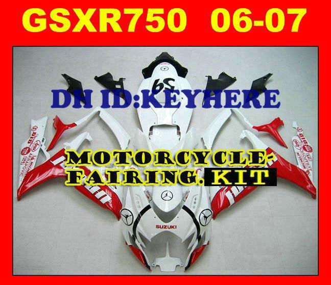 Carenado para Suzuki GSXR 600 750 GSX R600 R750 2006 2007 06-07 Hecho por plástico ABS de alta calidad