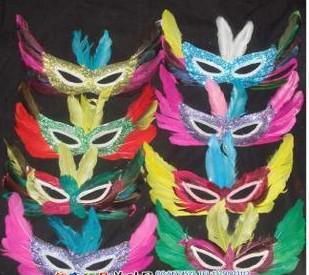 Geschenk-Tanzmaske-Federfeiertag Halloween-Weihnachtsfest der freien Verschiffenförderung