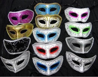 Wholesale Eye Masks Party Venice - free shipping plastic halloween man costume mask masquerade face facial eye masks party Venice mask
