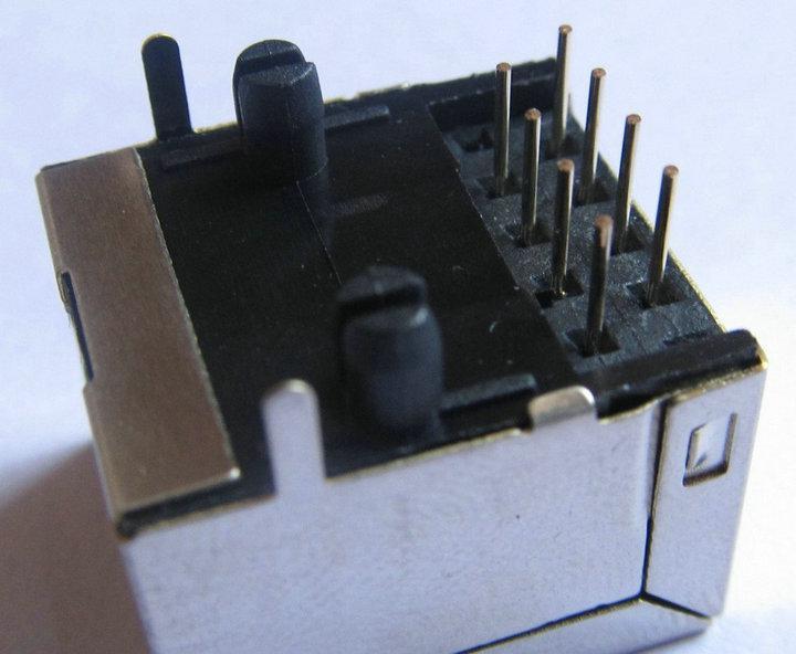 RJ45 Modular Network CAT5 Socket Computer Connector 8 pin LAN Jack shielded Module PCB Jack interface adapter