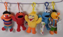 "Wholesale Games Sesame - Wholesale - Hot sell! 5"" Colorfully Sesame Street Elmo Stuffed Plush Dolls Toys Keychain"
