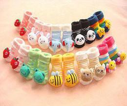 Wholesale Newborn Baby Slip Socks - Newborn Anti Slip Floor Socks Baby Fashion Cotton Non-slip Rubber Soles Booties 0-6M