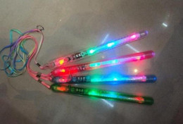 Wholesale Led Glow Stick Changing Color - Free shipping LED many color concert flashing stick,change glow wand fluorescent stick TOYS led bulb