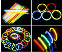 Wholesale Glow Fluorescent Light Sticks Bracelets - 100pcs lot Fluorescent bracelets,glow sticks,light sticks,LED toys,Party Supplies,Christmas supplies