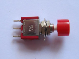 Wholesale 5a Push Switch - Momentary Red Push Button Switch 250V 2A 5A 3pin 50 pcs per Lot hot sale