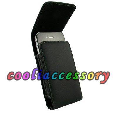 Flip clipe de couro belt case capa para iphone 4 4s 4g 4o se 5 5S preto duro Leechee Hip casaco coldre telefone celular tampa da pele de luxo 2 pçs / lote