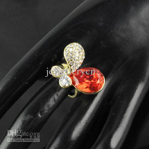 링 쥬얼리 - 반지의 매력 개인화 된 다이아몬드 반지의 매력 나비 반지 | RN-568