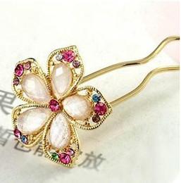 $enCountryForm.capitalKeyWord Australia - Korea hair ring, hair accessories, hair, hair fork, Phnom Penh, diamond faceted crystal flower hairp