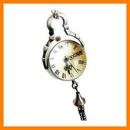 coating quartz NZ - 10 pcs per lot fanshion bell pocket watch with coat chain