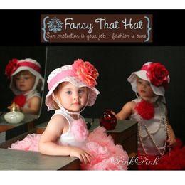 Wholesale Doomagic Girls - Doomagic Top Quality Girl's Hats baby caps sun helmet kids' hat sunbonnet top hat girls' sunhat bowler dicer headgear 6 designs mixed